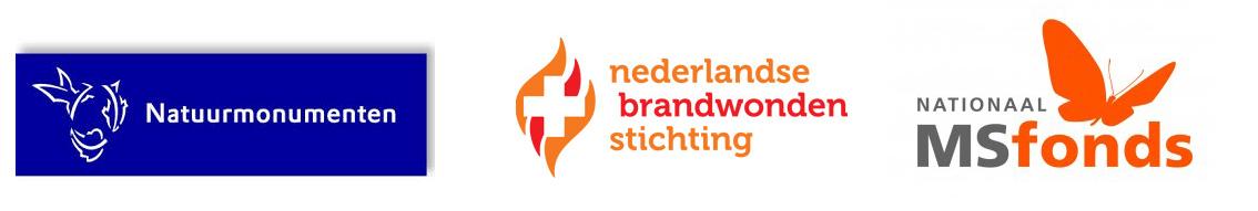 CollecteKracht wordt gebruikt door Nederlandse Brandwondenstichting, Natuurmonumenten en het MS Fonds